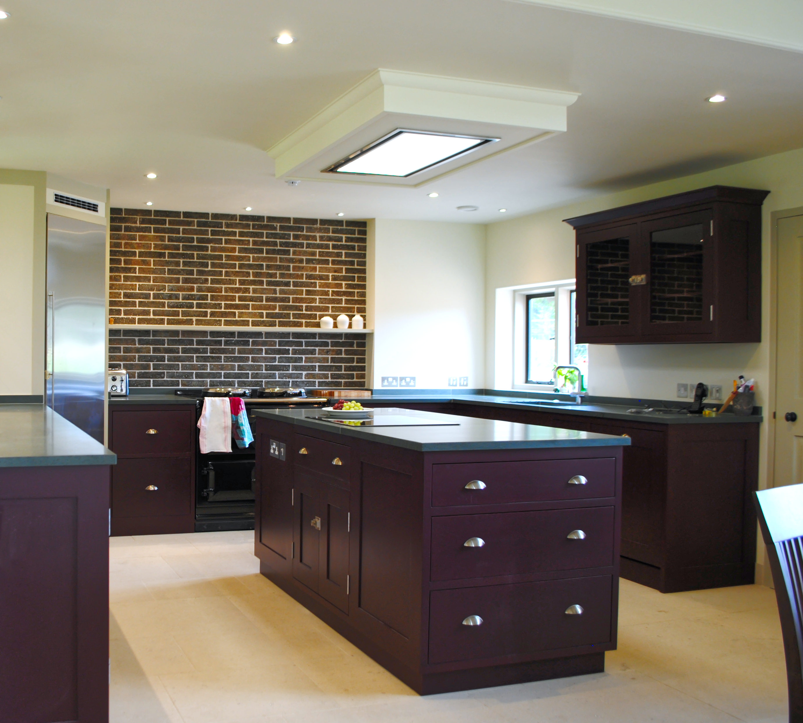 Kitchen with island unit